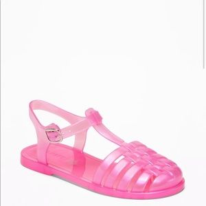 Old navy iridescent pink jelly fisherman sandal 12